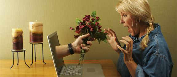 online-dating-flowers pop ut of computer